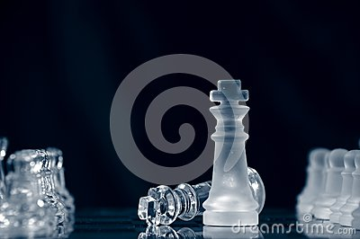 Checkmate against black background