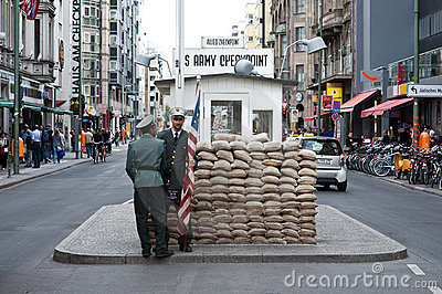 Checkpoint charlie Editorial Stock Photo