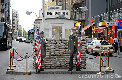 Checkpoint Charlie Editorial Stock Image