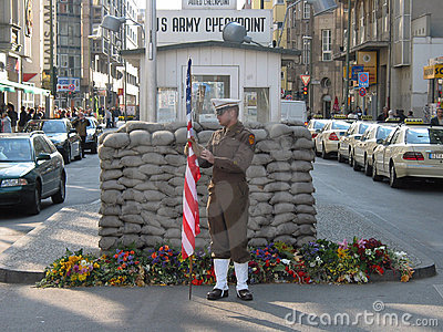 Checkpoint Charlie Editorial Image