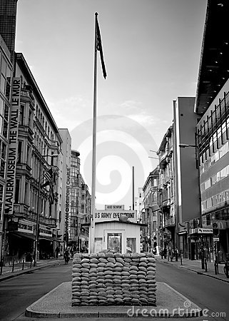 Checkpoint charlie berlin Editorial Photography