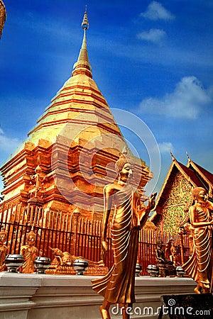 Chedi of Wat Phrathat Doi Suthep