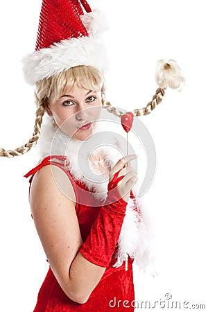 Cheeky christmas girl