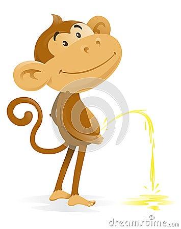 Cheeky Monkey takes the Pee