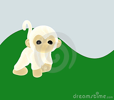 A cheeky white monkey