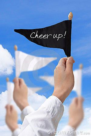 Cheer up flag