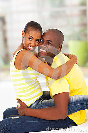 Cheerful african couple