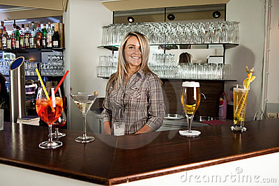 Cheerful bartender