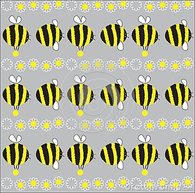 Cheerful bee.  illustration
