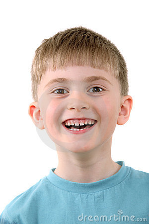 The cheerful boy
