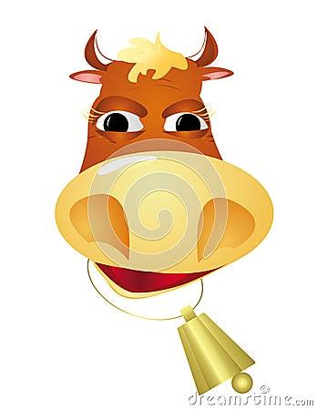 The cheerful bull