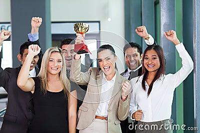 Cheerful business team
