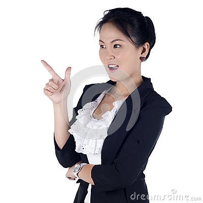 Cheerful business woman