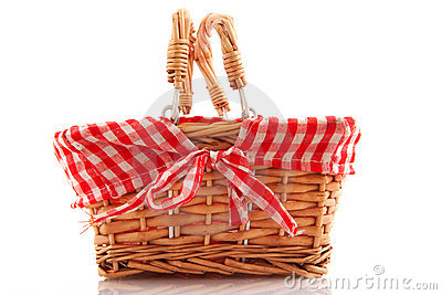Cheerful cane basket