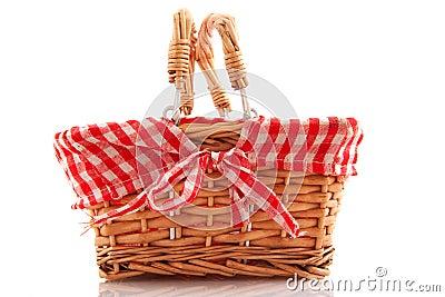 Cheerful cane basket