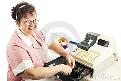 Cheerful Cashier