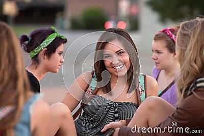 Cheerful Caucasian Student