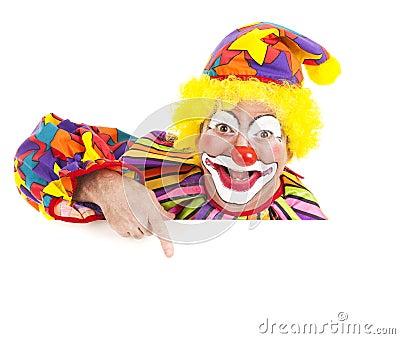 Cheerful Clown Design Element