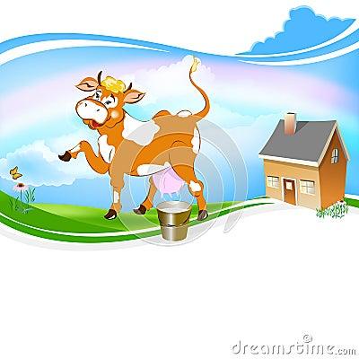 A  cheerful cow