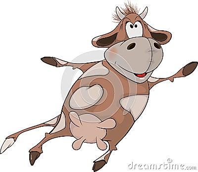 Cheerful cow. Cartoon
