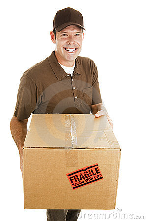 Free Cheerful Delivery Guy Stock Image - 11442161