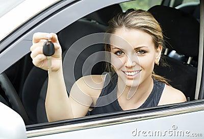Cheerful driver