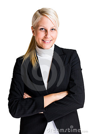 Cheerful elegant business woman.