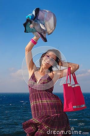 Cheerful fashion woman