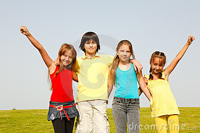 Cheerful group of children