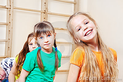 Cheerful kids group