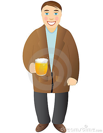 Cheerful man with beer mug