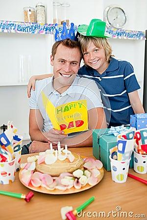 Cheerful man celebrating his birthday