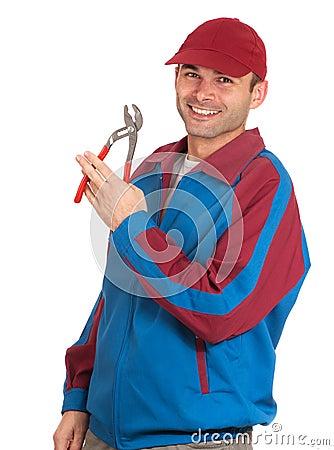 Cheerful mechanic