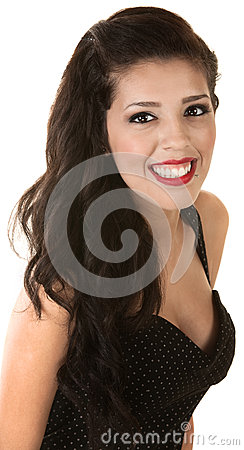 Cheerful Mexican Female