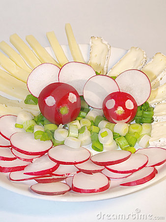 Cheerful radish mice