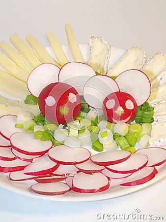 Cheerful radish mice