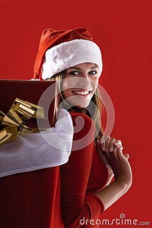 Cheerful Santa Girl
