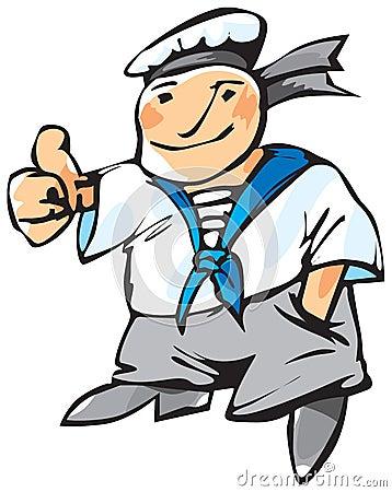 Cheerful seaman