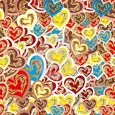 Cheerful seamless pattern