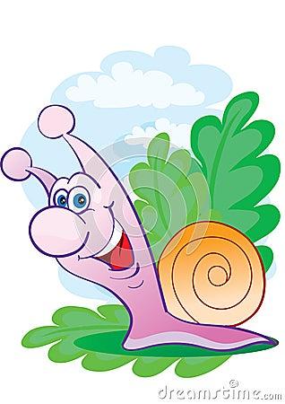 Cheerful snail