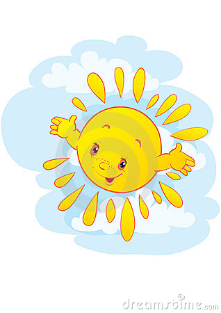 The cheerful sun