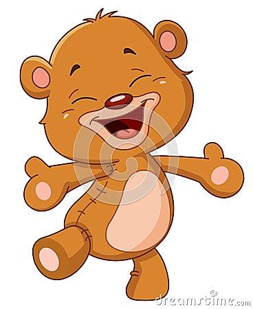 Free Cheerful Teddy Bear Royalty Free Stock Photos - 22912348