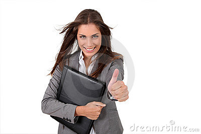 Cheerful working girl
