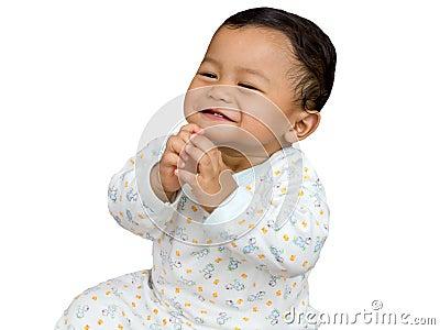 Cheerfull baby.
