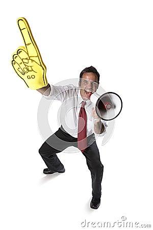 Free Cheering Businessman Stock Photos - 3251793