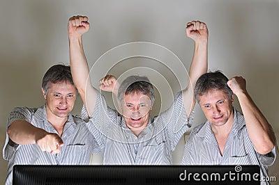 Cheering triplets