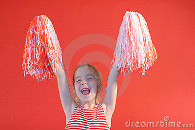 Cheerleader girl yelling