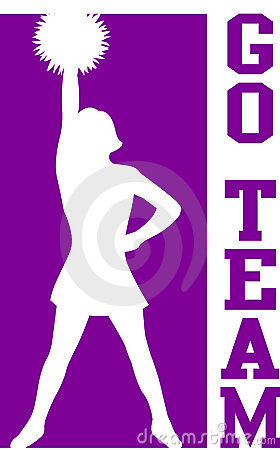 Cheerleader Go Team Purple/EPS