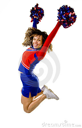 Free Cheerleader Jumping Royalty Free Stock Photo - 9477315