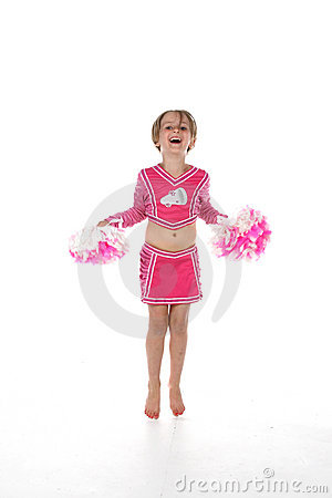 Cheerleader little girl